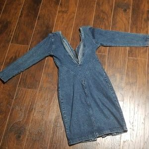 Vintage Paris Blues Denim Dress size medium